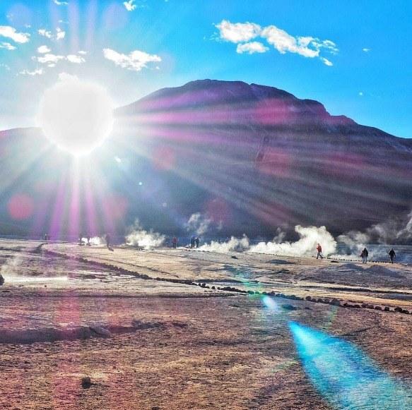 Langzeiturlaub Santiago de Chile & Umgebung, Chile, Heiße Quellen gibt es auch in der Atacama Wüste