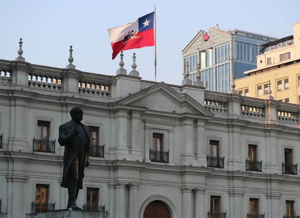 Kurzurlaub Santiago de Chile & Umgebung, Chile, Der Palacio La Moneda, die ehemalige Münzprägeanstalt ist heute der