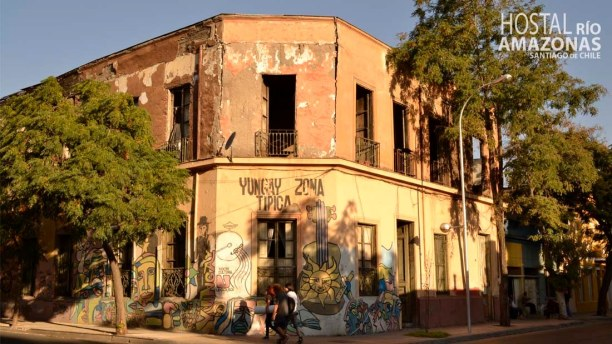 Kurztrip Santiago de Chile & Umgebung, Chile, Barrio Yungay ist eines der ältesten Wohnviertel in Santiago und auch