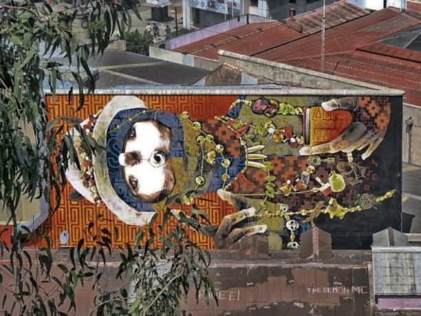 Kurztrip Valparaiso & Umgebung, Chile, Wandbild des chilenischen Street Art Künstlers Inti Castro
