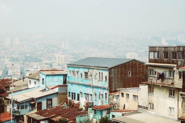 Kurztrip Valparaiso & Umgebung, Chile, Blick auf die Hügel