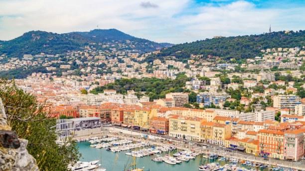Langzeiturlaub Nizza (Stadt), Côte d'Azur, Frankreich, Ein Blick auf den Hafen von Nizza