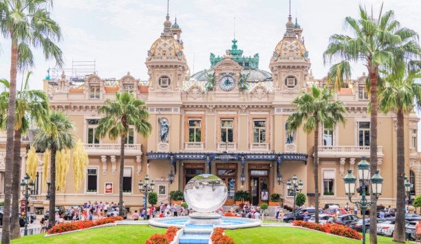 Langzeiturlaub Nizza (Stadt), Côte d'Azur, Frankreich, Das weltberühmte Casino in Monaco - auch von Außen ein wahrer Hinguc