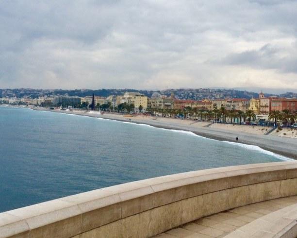 Eine Woche Nizza (Stadt), Côte d'Azur, Frankreich, Der Strand von Nizza - im Februar ganz ruhig und verlassen. Ein ganz a