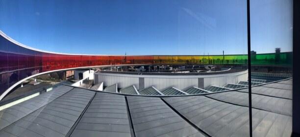 Kurzurlaub Aarhus, Dänemark, Rainbow von dem bekannten dänisch-isländischen Künstler Olafur Elia