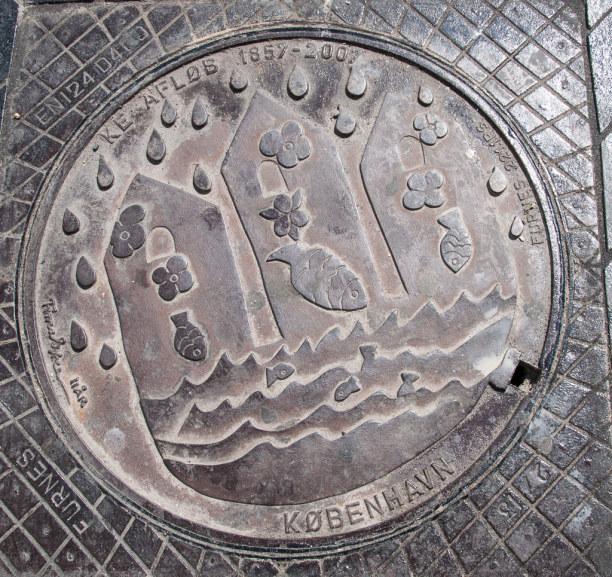Kurztrip Kopenhagen, Dänemark, Fische findest Du auch auf den Gullydeckeln in Kopenhagen wieder. ;-)