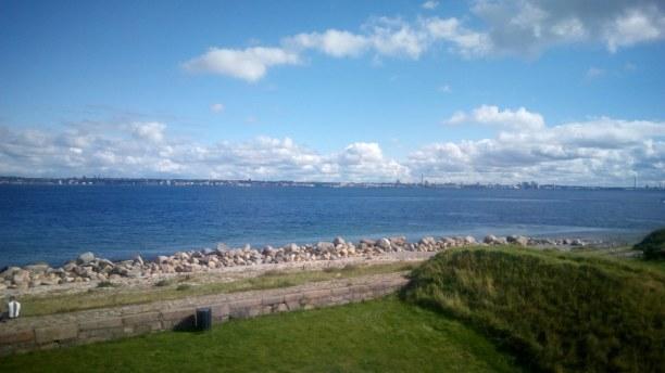 Kurzurlaub Kopenhagen, Dänemark, Man konnte von Kronborg aus Malmö, also Schweden sehen. Das war faszi