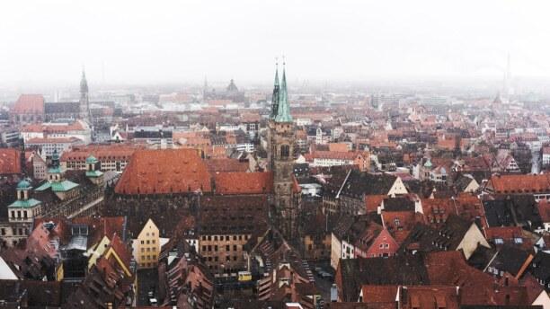 Langzeiturlaub Bayern, Deutschland, Nürnberg von oben