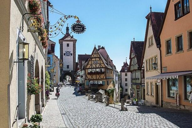 Langzeiturlaub Bayern, Deutschland, Die malerische Kleinstadt Rothenburg ob der Tauber ist definitiv einen