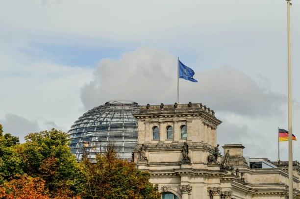 Kurztrip Berlin, Deutschland, Von dort aus kann man auch das Reichstagsgebäude sehen. Führungen si