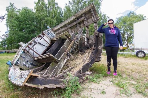 Kurzurlaub Insel Usedom, Deutschland, Das Boot hier hat auch schon bessere Zeiten gesehen. Aber es ist die p