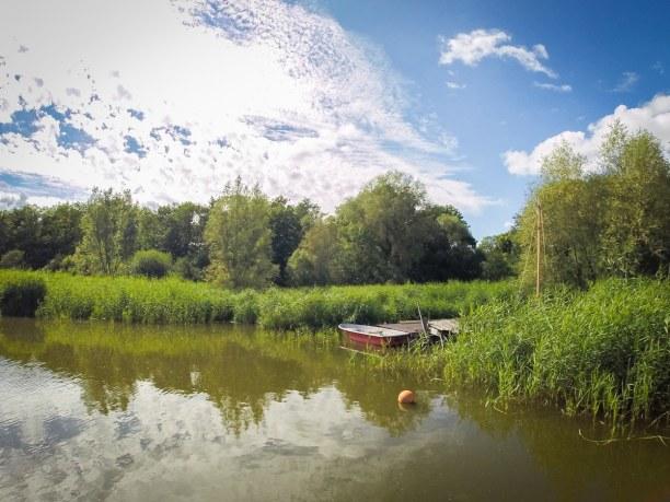 Kurztrip Insel Usedom, Deutschland, Der Naturhafen Krummin ist ein wunderbarer Ort zum Entspannen und geni