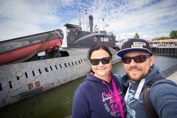 Kurztrip Insel Usedom, Deutschland, Sogar ein altes U-Boot liegt noch im Hafen von Peenemünde und kann be