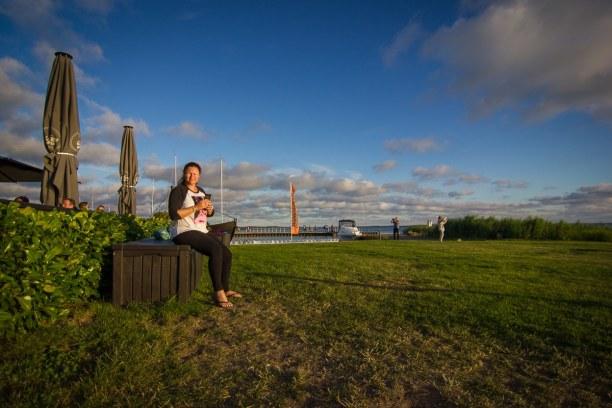 Kurztrip Insel Usedom, Deutschland, Den Sonnenuntergang haben wir uns dann wieder beim Cafè Knatter anges