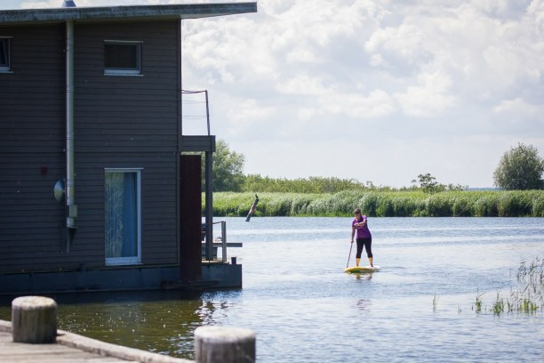 Kurzurlaub Insel Usedom, Deutschland, Der Naturhafen Krummin am Achterwasser ist ein wunderschöner Platz zu