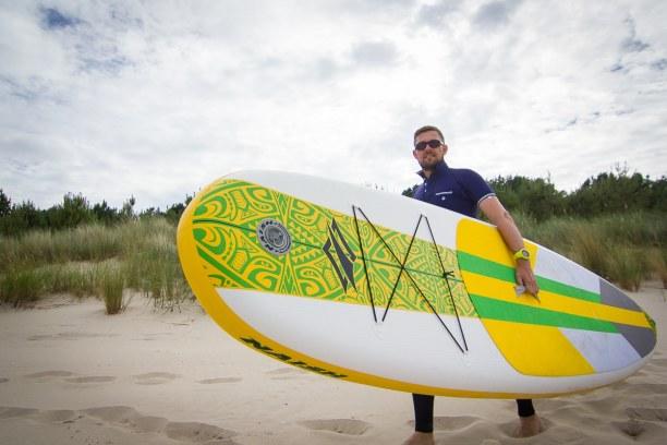 Kurzurlaub Insel Usedom, Deutschland, Wenn der Wind mal kurz Pause macht, ist es Zeit für eine Runde Stand