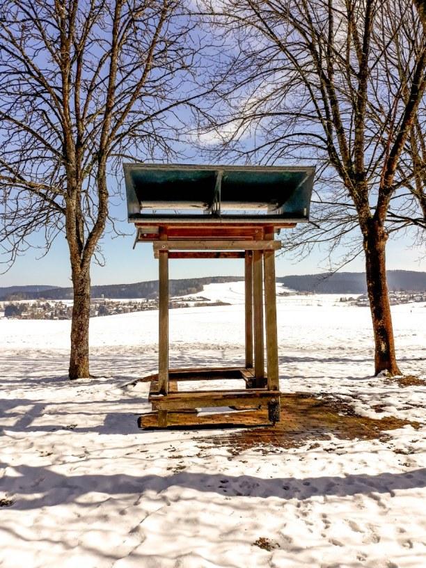 Kurztrip Schwarzwald, Deutschland, Windharfe auf dem Wellness-Wanderweg.