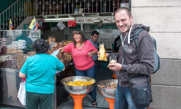 Kurztrip Quito (Stadt), Ecuador, Ecuador, Aber auch beim Stadtbummel musst Du nicht verhungern. Es gibt einige s