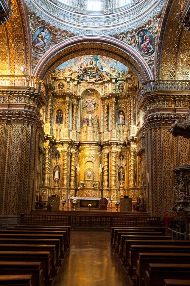 Kurztrip Quito (Stadt), Ecuador, Ecuador, Barock in Reinform ist in der Iglesia de la Compañía zu bestaunen.