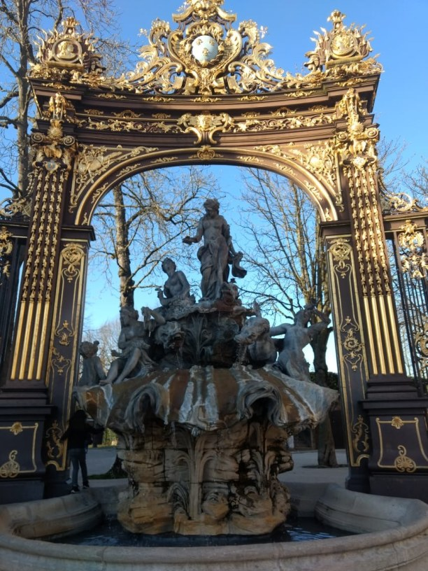 Kurzurlaub Nancy (Stadt), Elsass/Lothringen, Frankreich, Amphritrite-Brunnen auf dem Stanislas-Platz