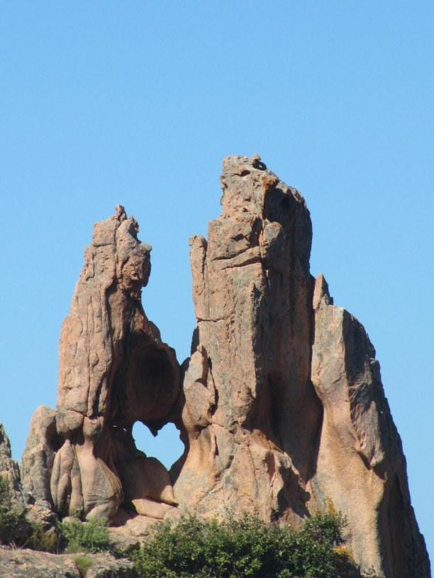 10 Tage Korsika, Frankreich, Calanche ist eine bizarre Felsenlandschaft südlich von Porto. Eine St