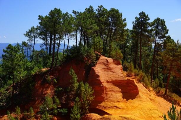 1 Woche Provence, Frankreich, Die Ockerfelsen von Roussillon bieten jedem Besucher ein unbeschreibli