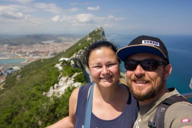Kurztrip Gibraltar, Gibraltar, Von der Bergstation hat man einen fantastischen Blick über Gibraltar,