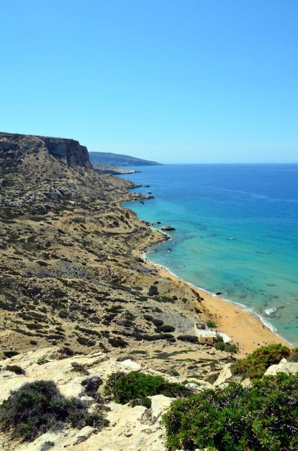 Kurzurlaub Kreta, Griechenland, Der Red Beach liegt in der Nähe von Matala. Um zu ihm zu gelangen bra