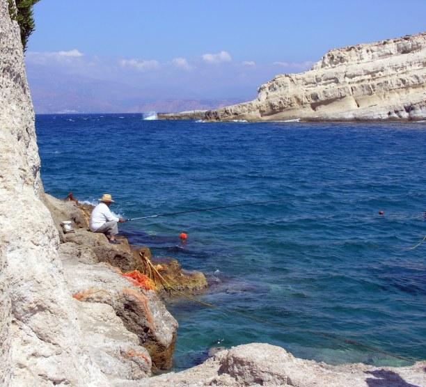 Kurztrip Kreta, Griechenland, Matala ist ein kleines Hippiedorf. Der Legende nach soll Zeus hier in