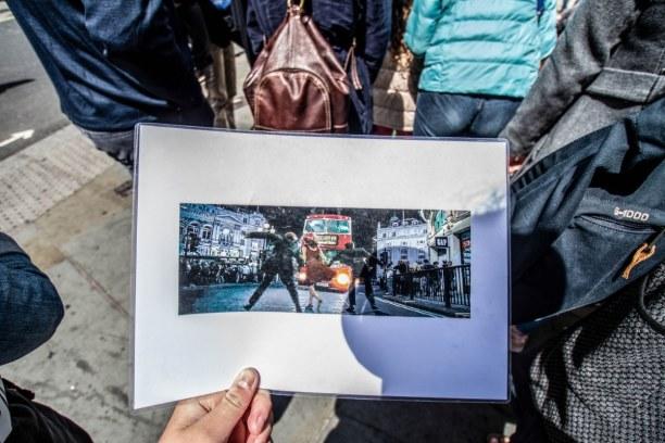 Kurztrip London & Umgebung, Großbritannien, Anhand von Bildern werden einem Szenen aus den Filmen gezeigt, sodass