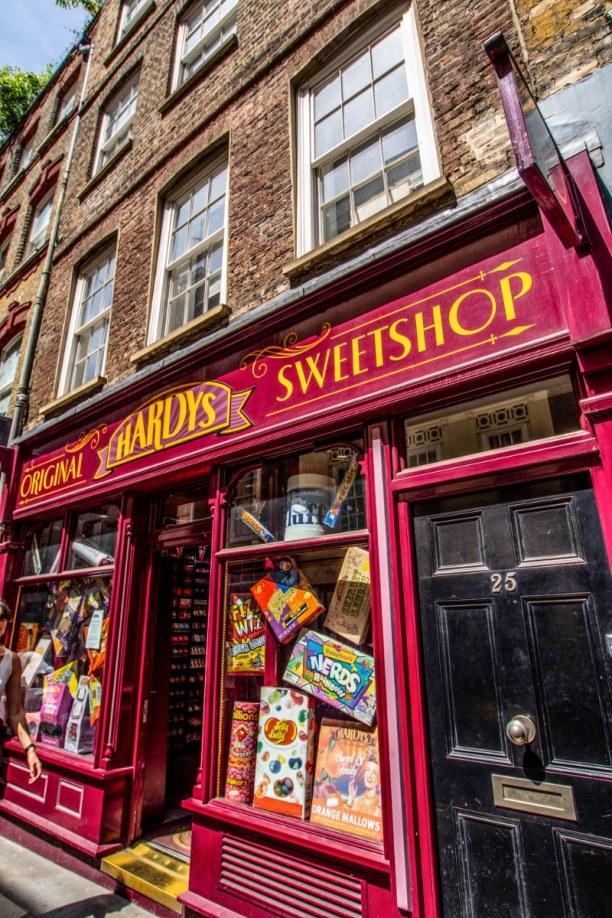 Kurzurlaub London & Umgebung, Großbritannien, Zwar kein Ort aus den Harry Potter Filmen, doch ein Süßigkeitenladen