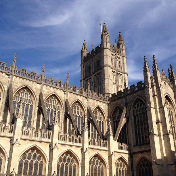 2 Wochen Südengland, Großbritannien, Abteikirche Bath