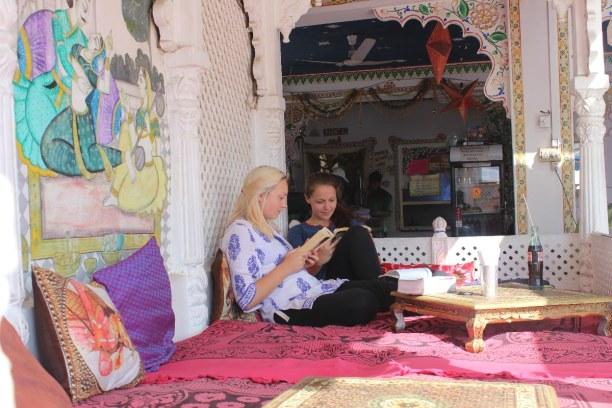 Langzeiturlaub Rajasthan, Indien, Sonnenterasse im Dream Heaven Hotel
