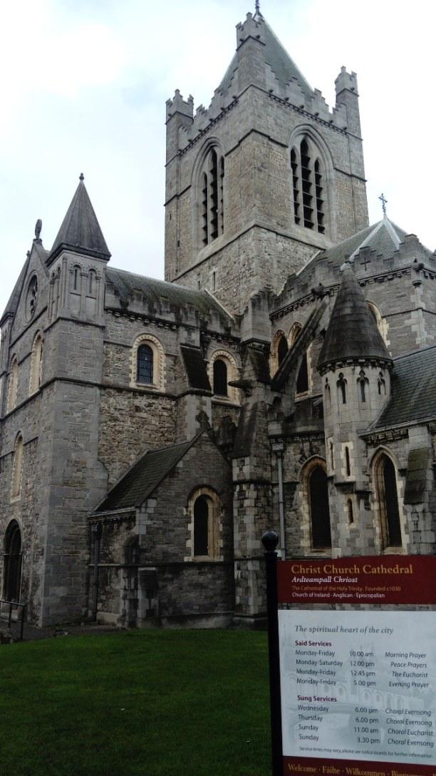 Kurztrip Dublin & Umgebung, Irland, DIe Christ Church Cathedral haben wir nur von außen gesehen. Durch de