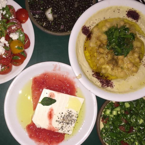 Kurztrip Tel Aviv & Umgebung, Israel, Hier haben wir richtig gut israelisch und orientalisch gegessen.