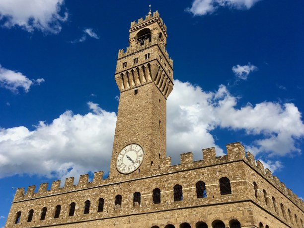 Kurzurlaub Toskana, Italien, Der Palazzo Vecchio stellte im 14.  Jahrhundert die Mitte  der weltlic