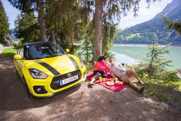 Kurztrip Trentino-Südtirol, Italien, Am nächsten Tag haben wir ein Frühstücks-Picknick am See gemacht. S