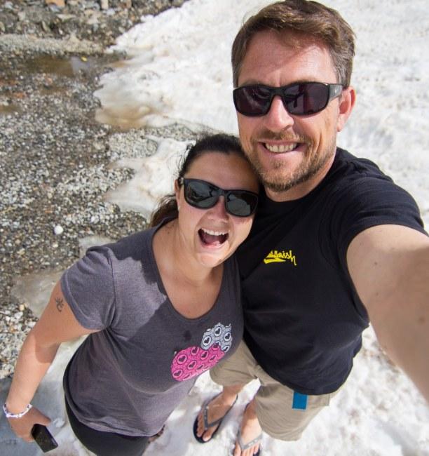 Kurzurlaub Trentino-Südtirol, Italien, Anfang Juni war es recht warm auf 2.500 Metern Seehöhe mit knapp 15 G