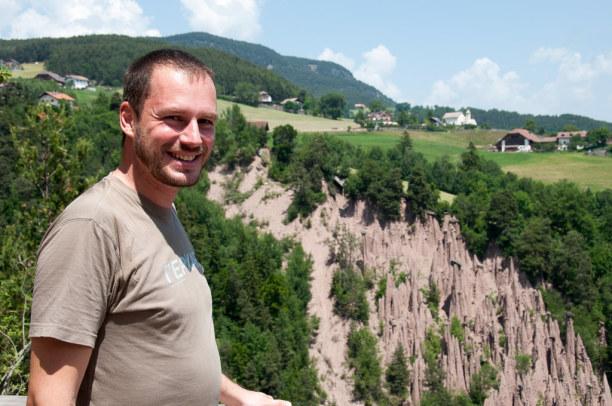 Kurztrip Trentino-Südtirol, Italien, Ich bin von den Erdpyramiden schwer beeindruckt. Rundum wird das weich