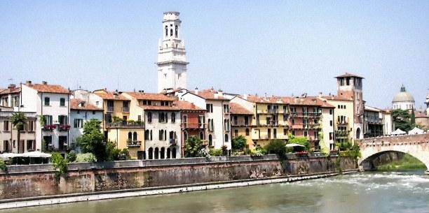 Kurztrip Venetien, Italien, Der Etsch ist ein 415 km langer Fluss und der zweitlängste Italiens.