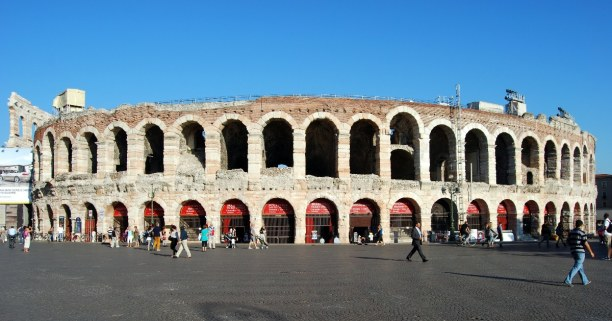 Kurztrip Venetien, Italien, Die Arena von Verona ist eines der drei besterhaltensten Amphitheater