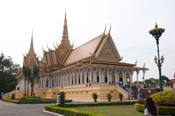 Kurztrip Kambodscha, Kambodscha, Eines der Highlights in Phnom Penh ist der Königspalast.