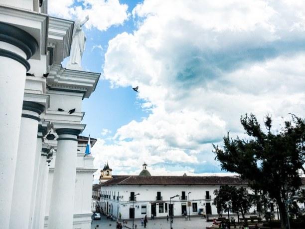 Kurztrip Popayan (Stadt), Kolumbien, Kolumbien, Der Ausblick aus meiner Unterkunft ParkLife Hostal - auch wenn das Hos