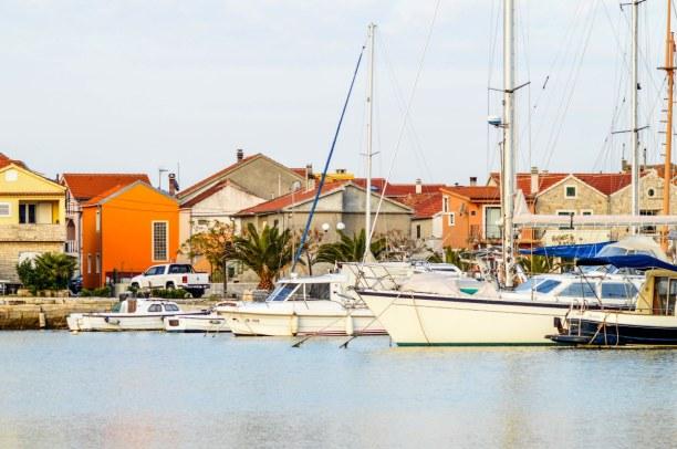 Eine Woche Adriatische Küste, Kroatien, Hafen von Bibinje