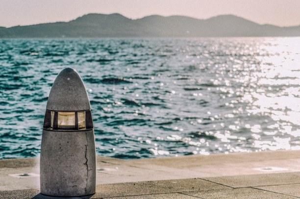 Eine Woche Adriatische Küste, Kroatien, Die Meeresorgel ist eine Sehenswürdigkeit von Zadar. Sie ist ein expe