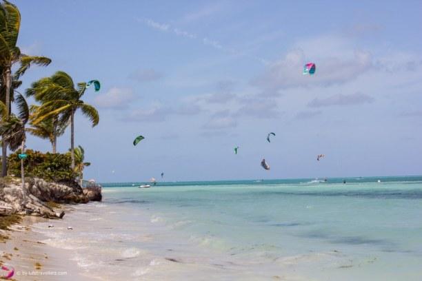 Drei Wochen Atlantische Küste / Norden, Kuba, Selbstverständlich ist auch das Kitesurfen auf Cayo Guillermo nicht z