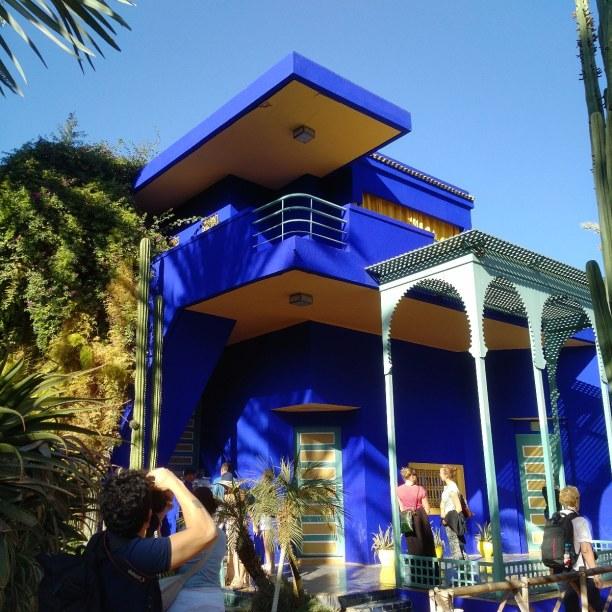 Kurztrip Marrakesch (Stadt), Landesinnere, Marokko, Der wunderschöne Garten Jardin Majorelle von dem Modedesigner Yves Sa