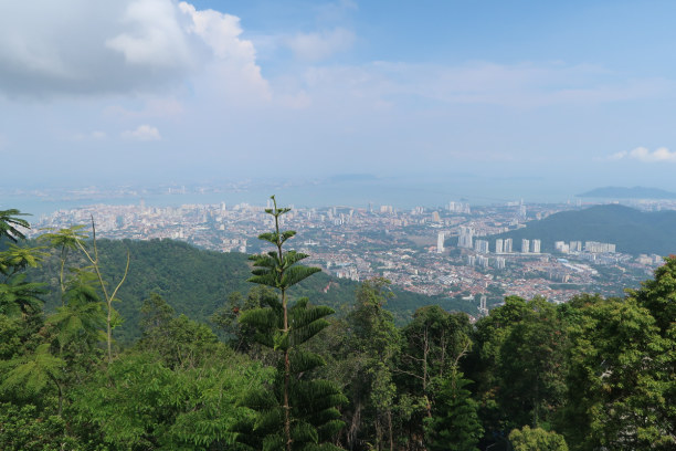 1 Woche Penang, Malaysia, Ausblick vom Penang Hill