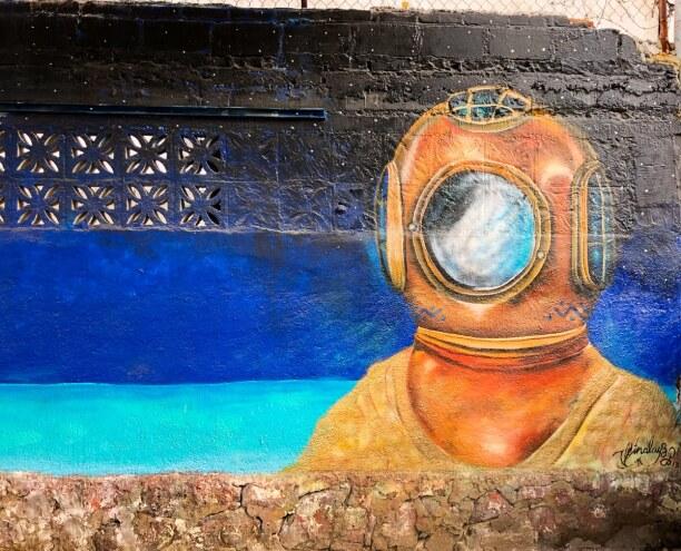 Kurzurlaub Baja California & Golf von Kalifornien, Mexiko, Die meisten Murals in La Paz haben ein Kernthema: das Meer!