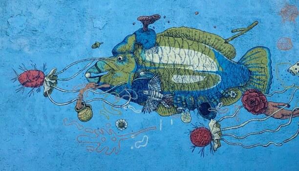 Kurztrip Baja California & Golf von Kalifornien, Mexiko, Hier findet ihr jede Menge Street Art in La Paz: Am (Park)platz wo Mut